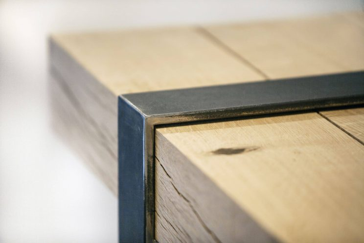 Rustic wooden table top