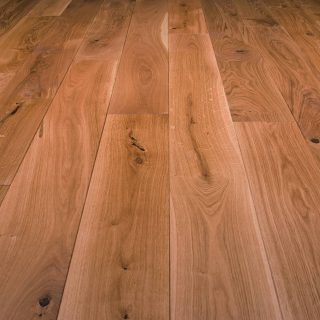 Natural oak oiled wooden plank flooring