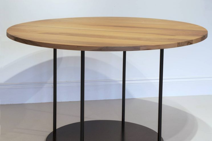 Circular modern wooden table