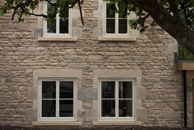 Casement windows in stone home near Bath