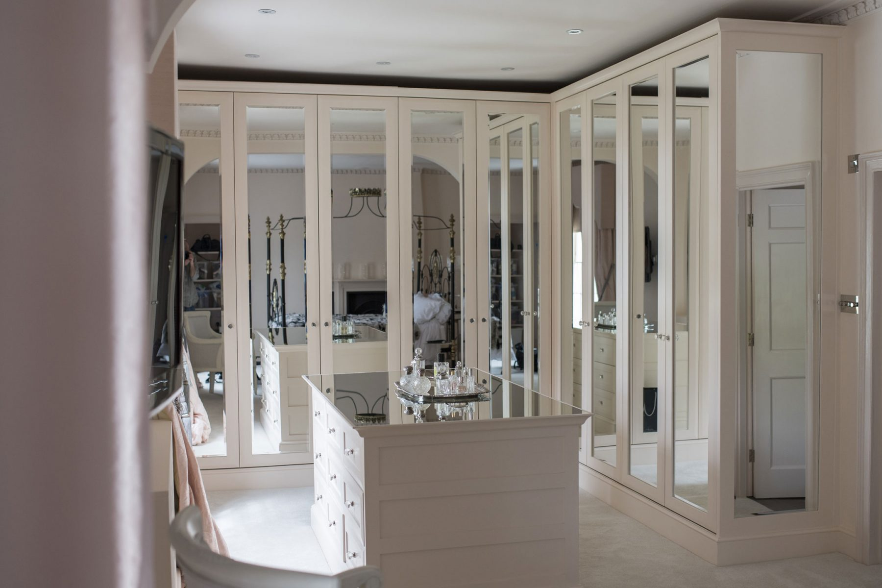 Fitted wardrobes in dressing room