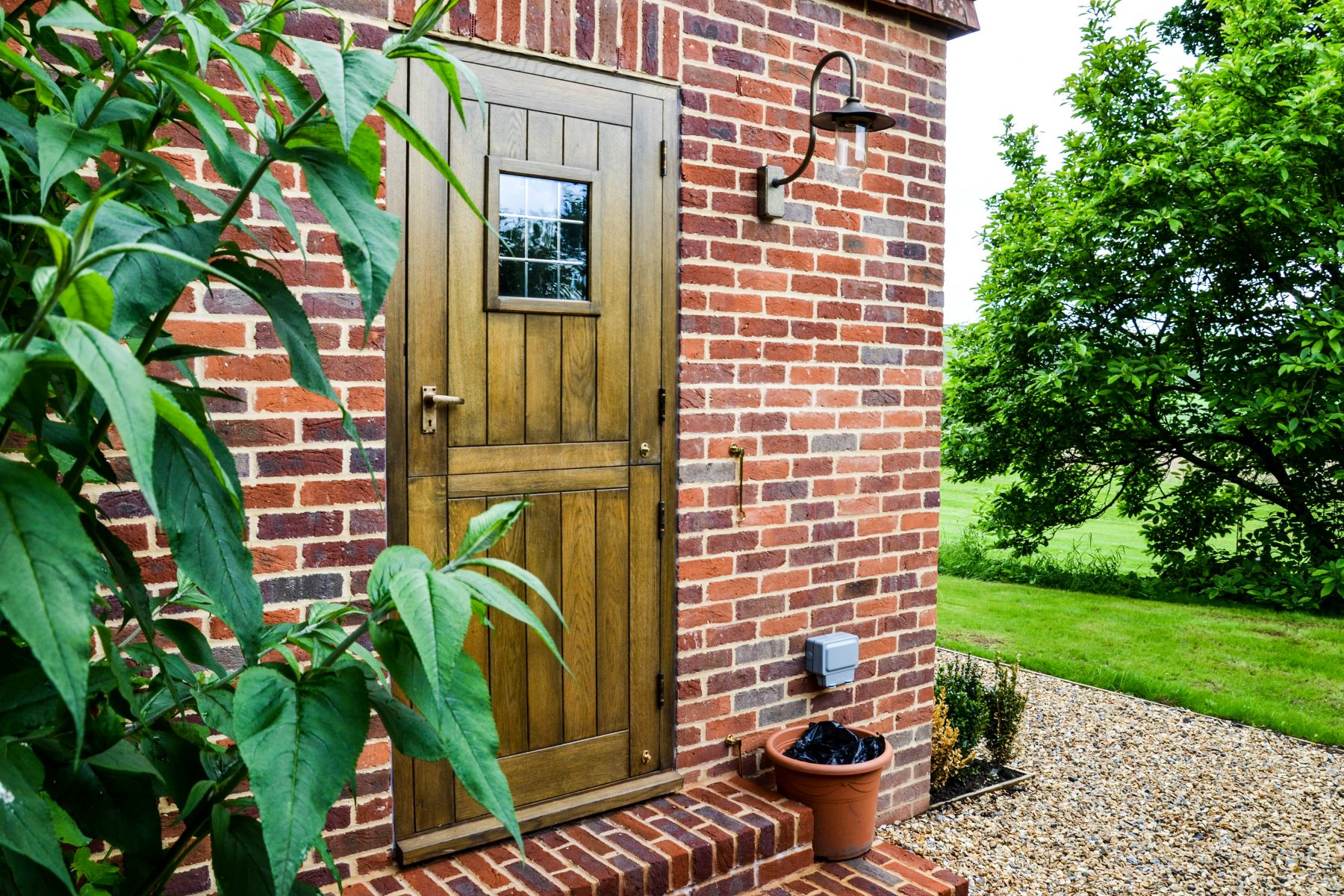 Wooden stable door for country home