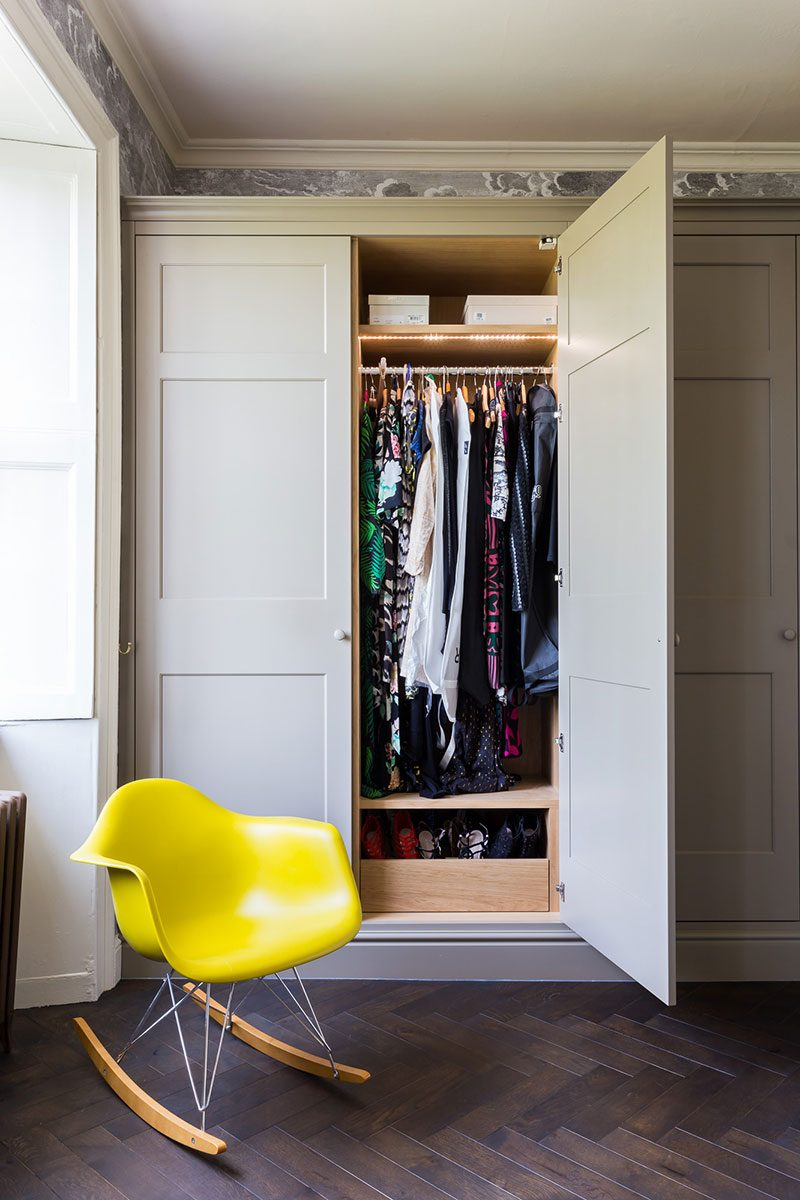 Bespoke wardrobes with period detailing