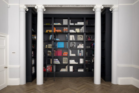 Bespoke library bookcase in Georgian house