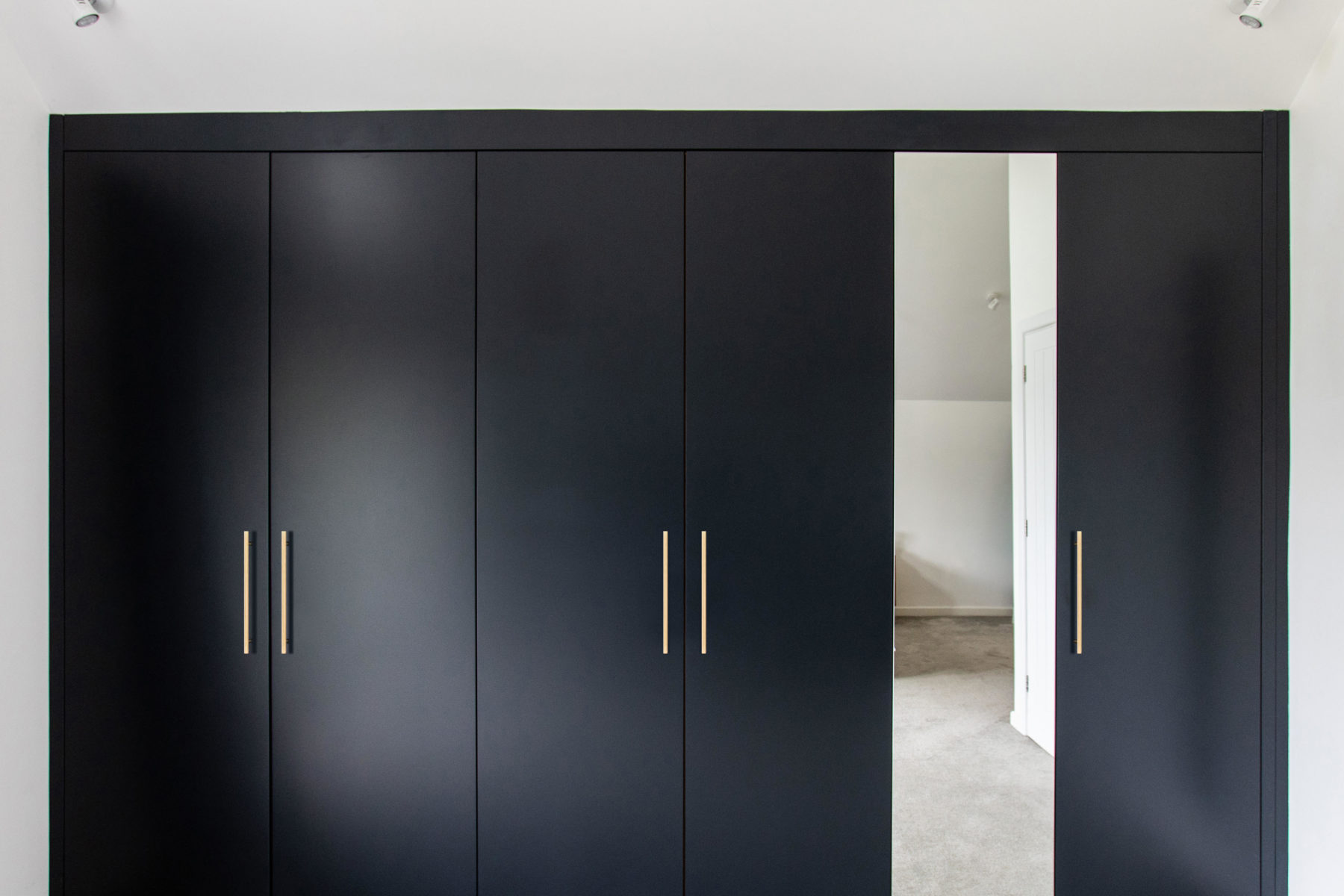 Contemporary slab door wardrobes